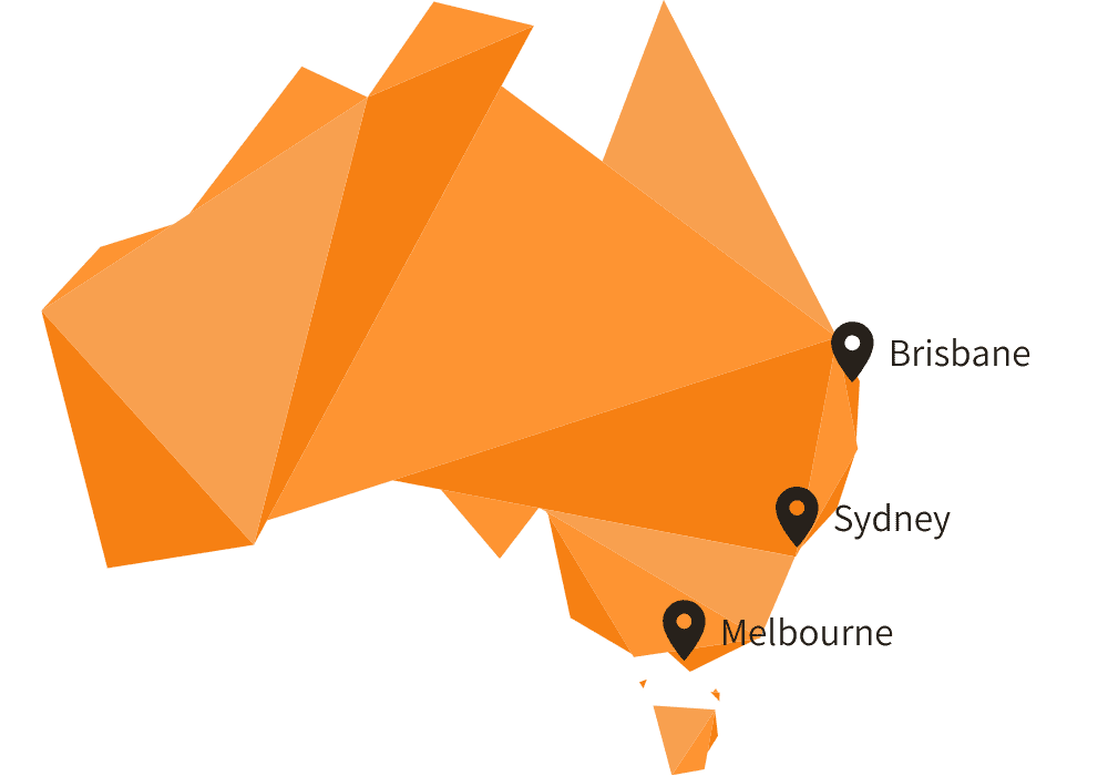 Brisbane Sydney Melbourne locations